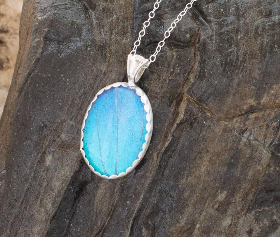blue morpho butterfly wing jewelry