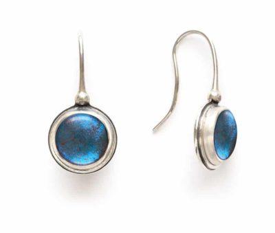 blue morpho butterfly earrings