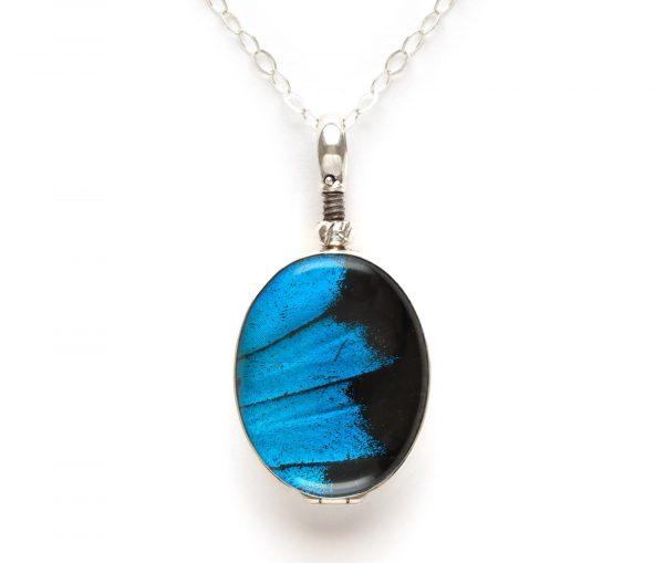 blue mountain butterfly pendant