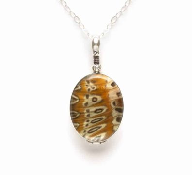 Leopard Lacewing Reversible Necklace