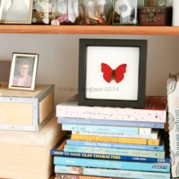 framed butterflies interior design