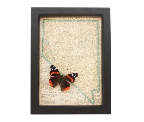 framed map of nevada