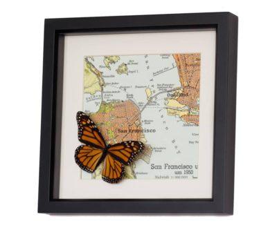 framed san francisco map