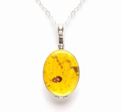 Sulphur Butterfly Reversible Necklace