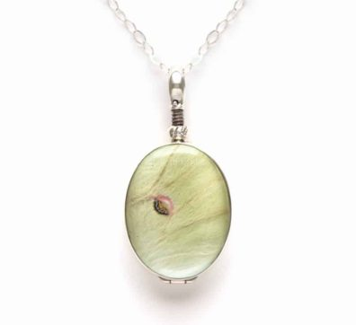 Luna Moth Wing Reversible Necklace