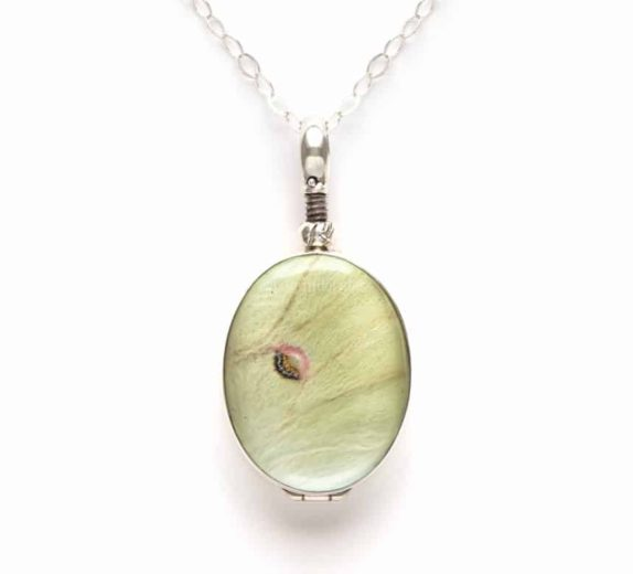 luna moth wing necklace