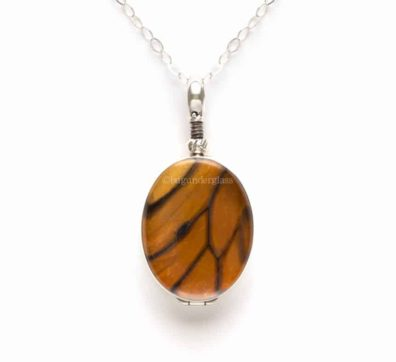 Monarch Butterfly Wing Reversible Necklace