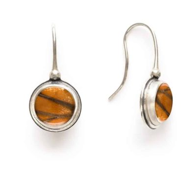 Monarch Real Butterfly Wing Drop Earrings