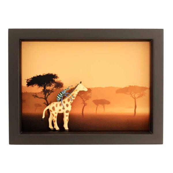 beetle riding giraffe