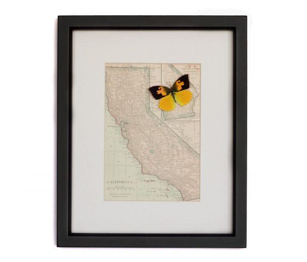 vintage framed map california