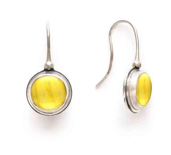 yelllow-butterfly-wing-earrings