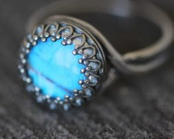 blue morpho ring