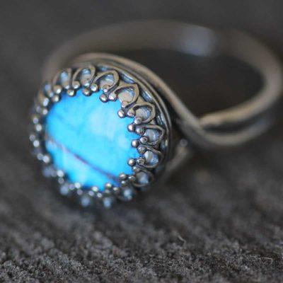 blue morpho ring