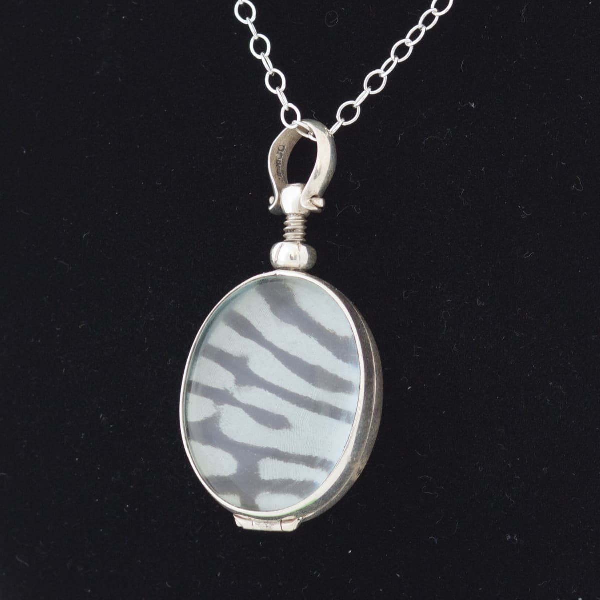 real butterfly wing necklace rice paper