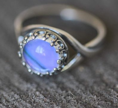 Purple Mountain Butterlfy Wing Ring