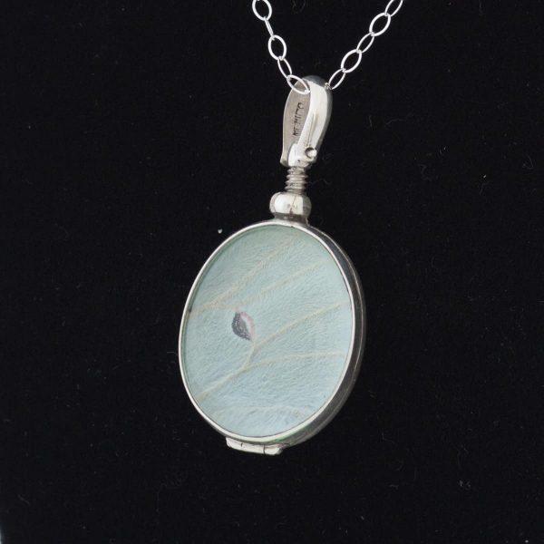 luna moth wing necklace