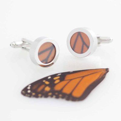 monarch butterfly wing cufflinks