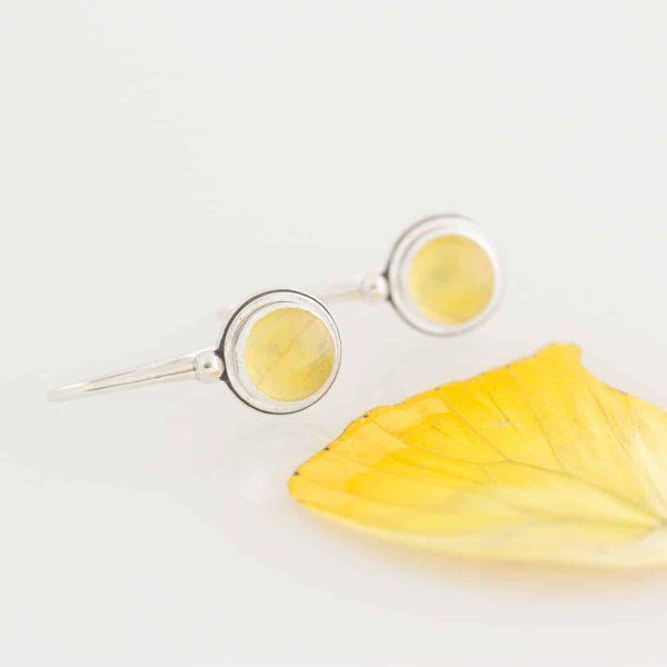 real butterfly wing earrings sulphur