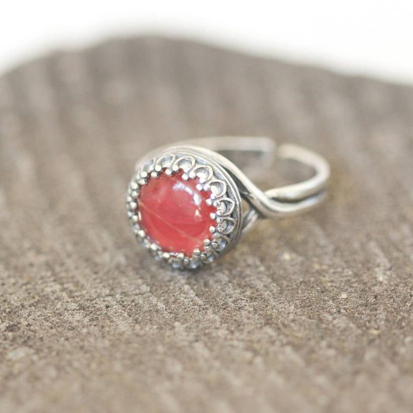 real butterfly wing ring red sangria
