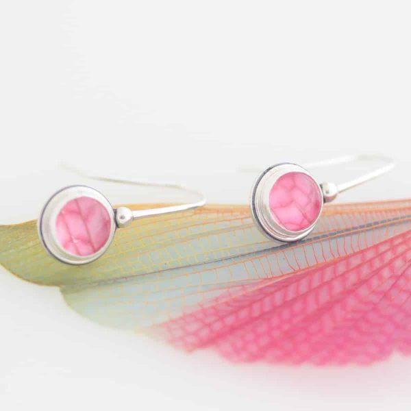 real grasshopper wing earrings