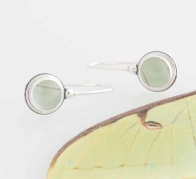 real luna moth earrings