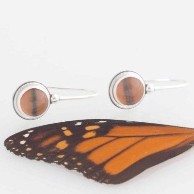 monarch real butterfly wing earrings