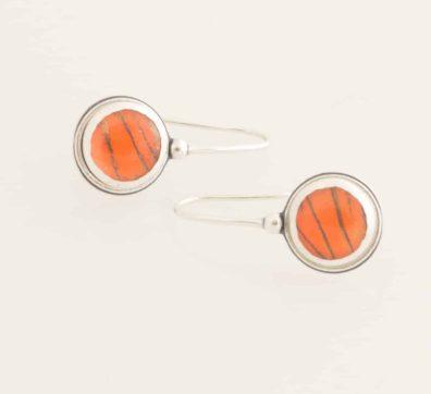 Orange Albatross Real Butterfly Wing Drop Earrings