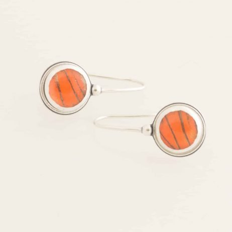 orange albatross real butterfly wing earrings