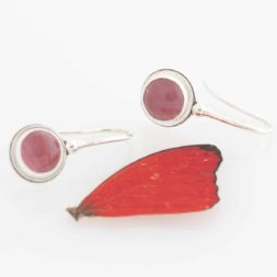real butterfly wing earrings sangria
