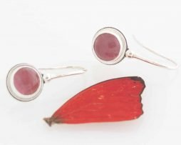 real butterfly wing earrings sangria