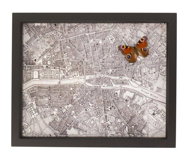 framed map paris