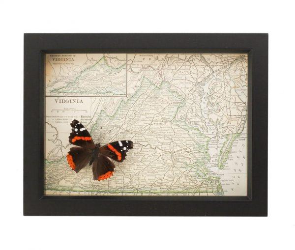framed virginia map