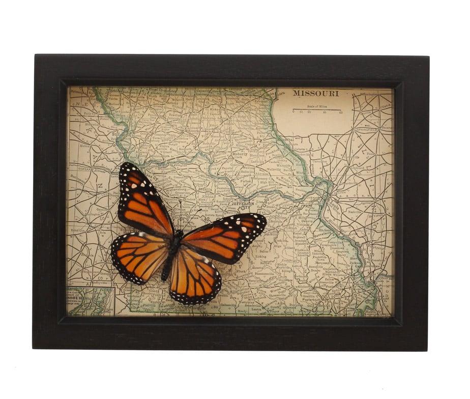 framed map missouri