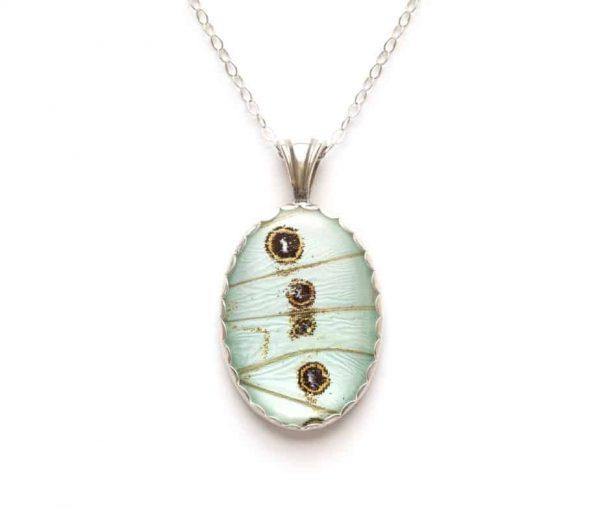mint morpho butterfly wing jewelry
