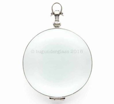 Sterling Silver Large Round Glass Photo Locket #1