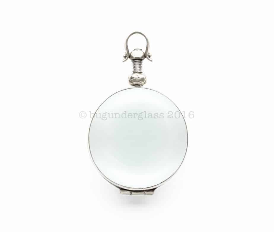 round glass photo locket