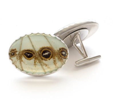 Mint Morpho Sterling Silver Cuff Links