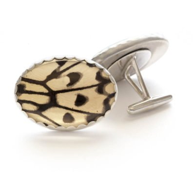 Paper Kite Butterfly Sterling Silver Cuff Links