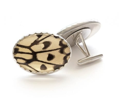 black and white cuff links